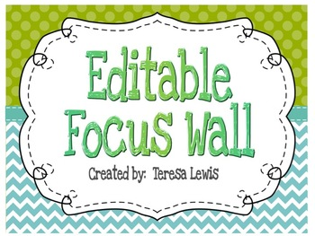 Customizable Focus Wall Poster Set Turquoise and Green