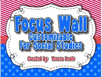 Customizable Focus Wall Social Studies Theme