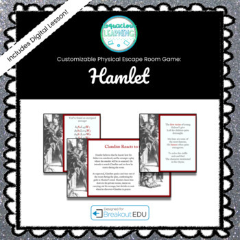 Customizable Hamlet Escape Room / Breakout Game