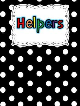 Classroom Jobs/Helper Chart Editable {FREEBIE}