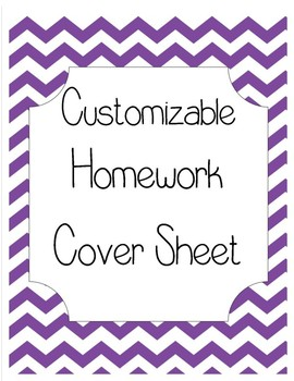 Customizable Homework Cover Sheet and Spelling Tic-Tac-Toe