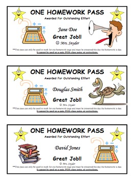graphic regarding Homework Pass Printable named Customizable Research P for Pupils (Totally free)