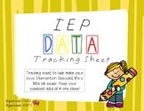 Customizable IEP Data Tracking Sheet