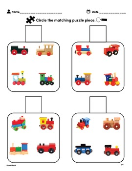 Customizable INSET PUZZLE Worksheets & Data For Students With Autism