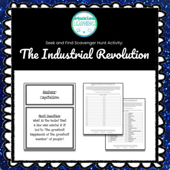 Customizable Industrial Revolution Scavenger Hunt Style Review Game