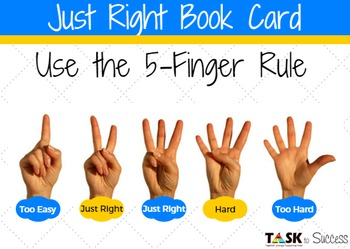 Customizable Just Right Book Cards