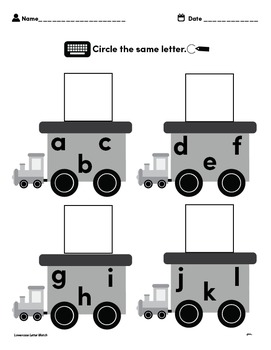 Customizable LETTER MATCHING Worksheets & Data For Students With Autism