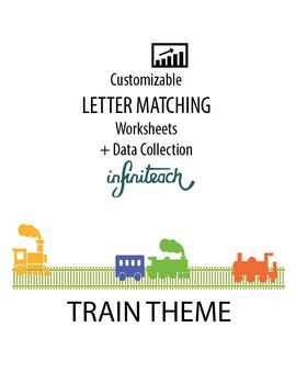Customizable LETTER MATCHING Worksheets & Data For Student