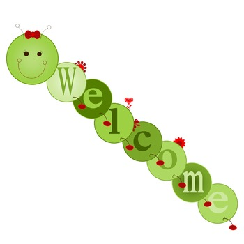 Customizable Large Hungry Friendly Caterpillar Bulletin Board Banner- RED