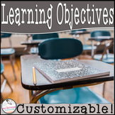 Customizable Learning Objectives Display