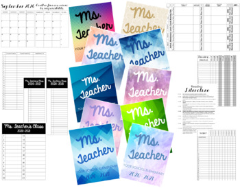 Customizable Lesson Plan Book