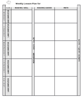 Customizable Lesson Plan Format with Graphics