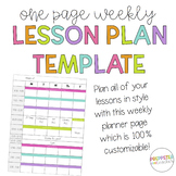 Customizable Lesson Plan Pages that can be used with Happy