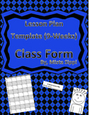 Customizable Lesson Plan Template (9-Week Edition)