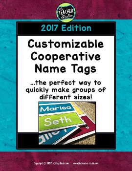 "Customizable ""Make Cooperative Groups"" Name Tags 2017 edition"