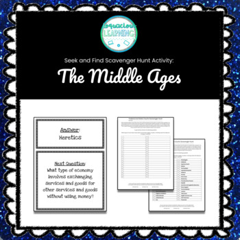 Customizable Middle Ages Scavenger Hunt Style Review Game