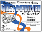 Customizable Most Improved Award Certificate