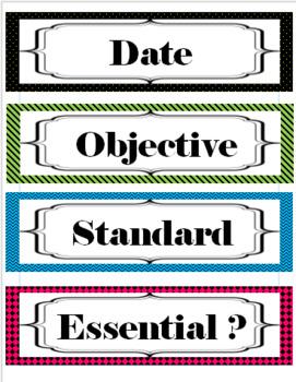 Customizable Multipurpose Labels