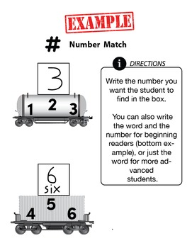 Customizable NUMBER MATCHING Worksheets & Data For Students With Autism