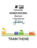 Customizable NUMBER MATCHING Worksheets & Data For Student