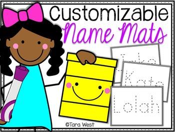 Customizable Name Mats {freebie}