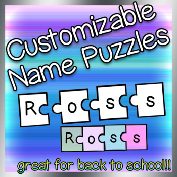 Customizable Name Puzzles