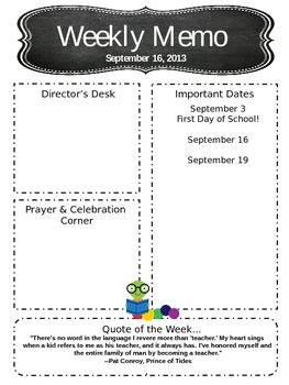 Customizable Newsletter Template