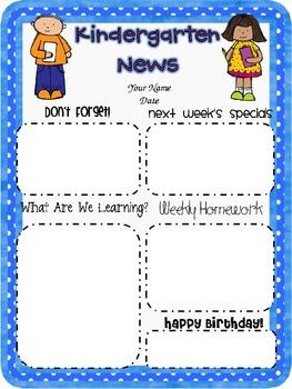 Customizable newsletter template for k 3 freebie by for 5th grade newsletter template