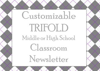 Customizable Newsletter Template for Upper Grades