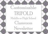 Customizable Newsletter Template for Upper Grades