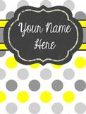 Customizable Notebook (Sunshine Polka Dot)