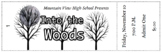 Customizable Numbered Ticket Template for Into the Woods Theatrical Performance