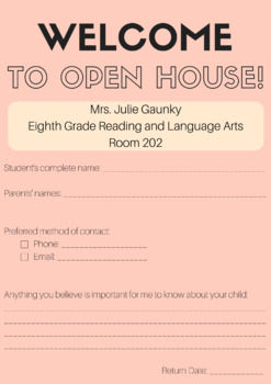 Customizable Open House Form/Poster (with example)