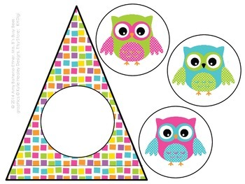 Customizable Outstanding Owls Pennant Banner