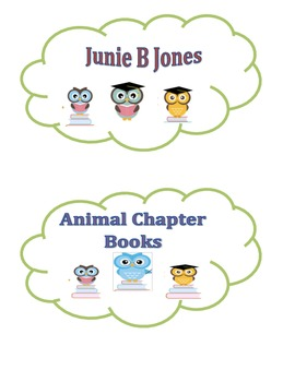Customizable Owl Book Bin Labels