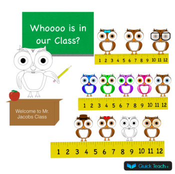 Customizable Owl Themed Bulletin Board/ Class Room Decor