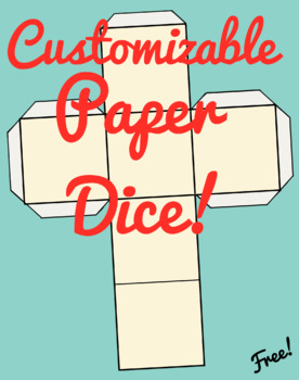 Customizable Paper Dice Templates (Free!)