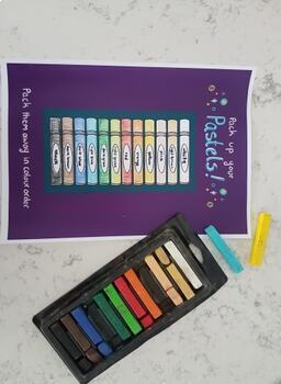 Customizable Pastel and Chalk tidy posters - Art Room Poster for cleaning!