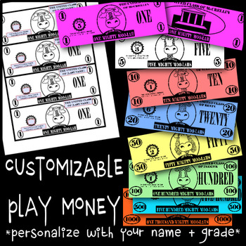 Customizable Play Money - Classroom Management & Token Economy