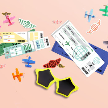 Customizable Play Retro Plane Tickets