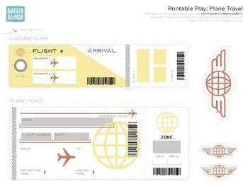 Customizable Play Retro Plane Tickets