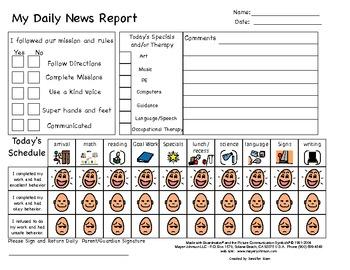 Customizable Point Sheet/Communication Log