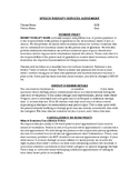 Customizable Speech Therapy Policy Agreement
