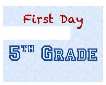 """Customizable & Printable """"First Day of School"""" sign"""