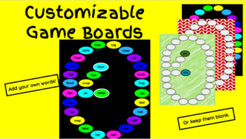 Customizable/Printable Gameboards Using Google Slides