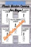 Customizable, Printable Music Binder Covers for BOYS