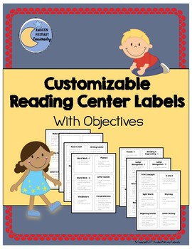 Customizable Reading Center Labels With Objectives