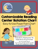 Customizable Reading Center Rotation Chart