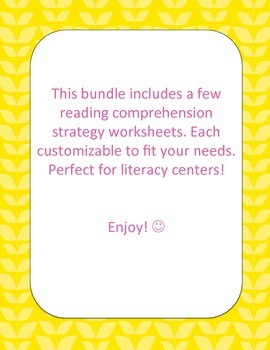 Spring Into Reading - Comprehension Worksheets