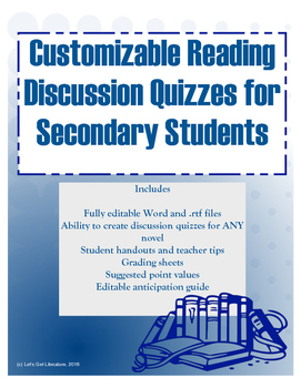 Customizable Scored Discussions